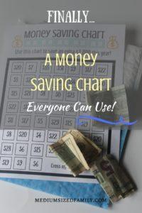 Finally...A Money Saving Chart Everyone Can Use! Try this money saving chart to save an extra $1,000 this year.