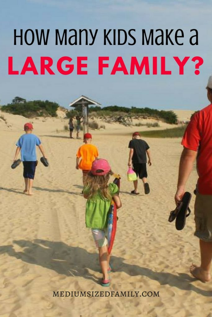 Ever wondered if others consider you a large family? Here's a look at how many kids gets you to the large family definition.  Learn how many families look like yours!