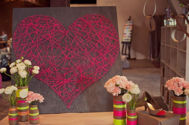 Valentine's Day Decor Ideas: DIY String Heart