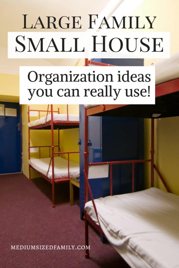 Large family, small house. You can solve this problem using these organization ideas for your living spaces!