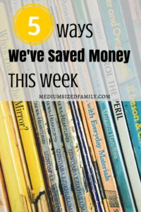 This blogger is paying off a ton of credit card debt. So every week, she talks about the things they've done to save money and help dig out of debt.