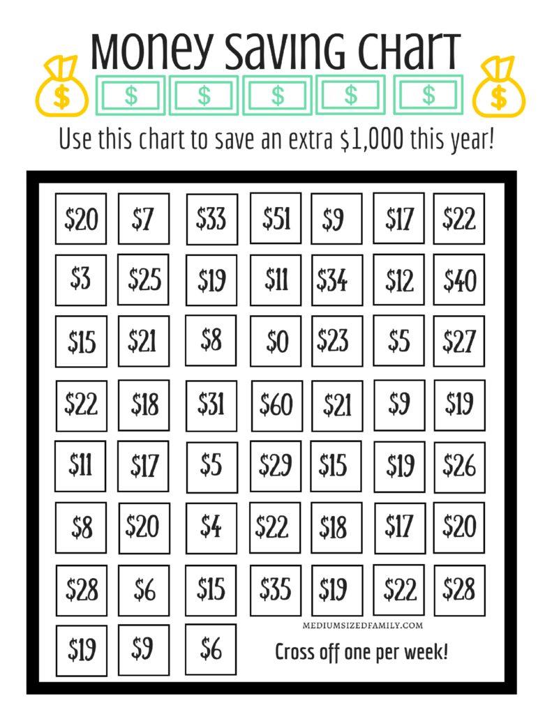 52 Week Money Challenge Free Printable