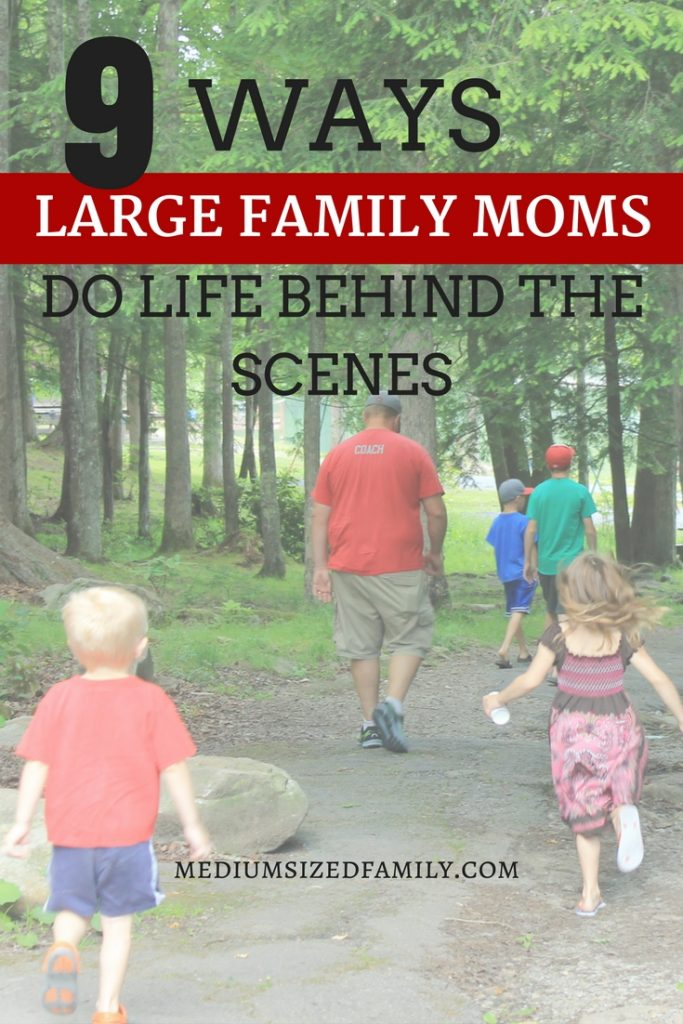 Get a behind the scenes look at how you can keep large family mothering simple. You can totally use these ideas even if you don't have a large family!