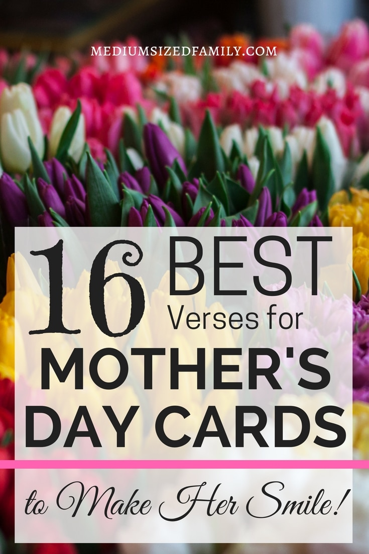 The verses for Moms in this post are perfect Mother's Day card sayings!  These heartfelt quotes for moms say it all.