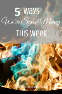 More ideas for saving money this week!