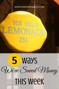This blog has new money saving ideas every week on Friday. Tons of ideas for saving money so you can get out of debt.