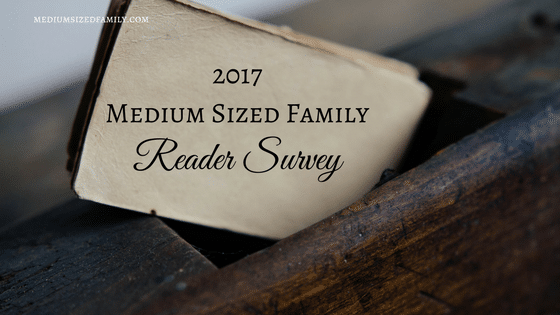 Reader Survey 2017: Let's Improve Medium Sized Family Together!