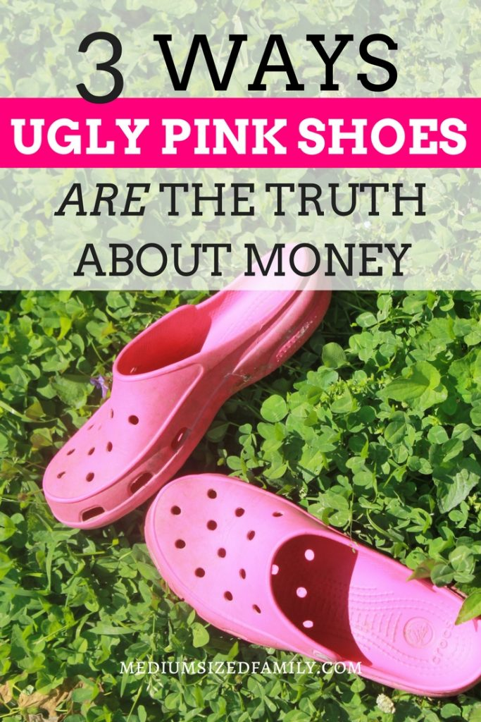 You can learn a lot about your spending habits from strange things...like ugly shoes.  It's a great reminder when it comes to saving money!