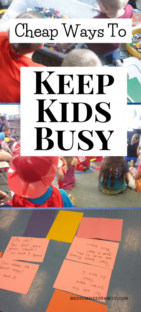 Cheap and easy ways to keep kids busy at home. These fun family activities will stop bored kids from fighting. Indoor activities they can play when you're stuck at home.