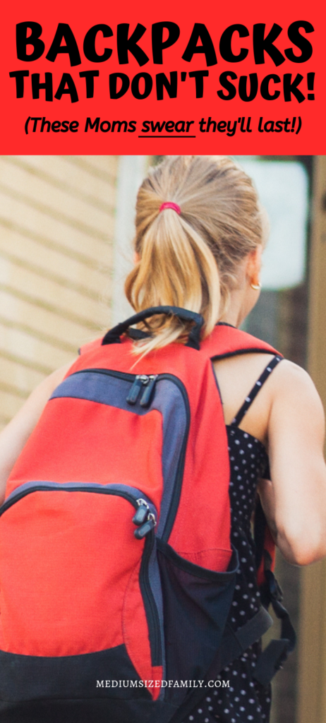 You won't believe how long these backpacks will last! Get the right bookbag now and they can carry it all the way through high school. Don't buy anything before you learn which bags these Moms swear by.