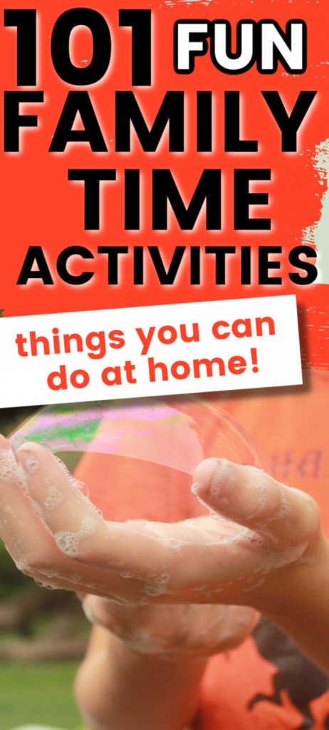 Tons of free fun family time activities that you and the kids can do right at home. Simple ideas your children will love.