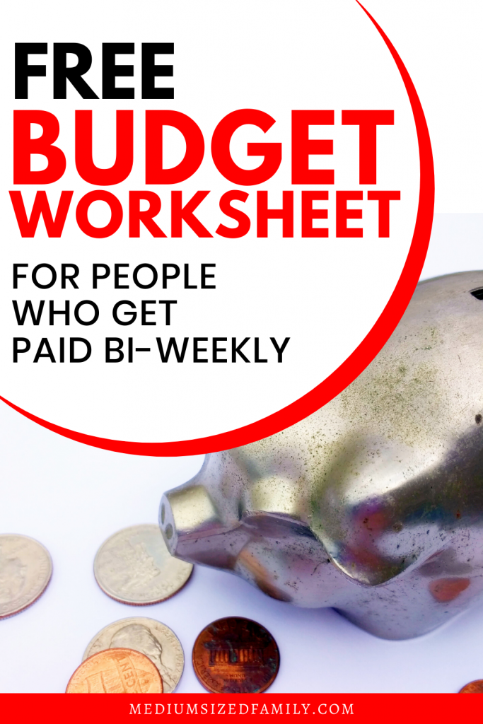 Free budget worksheets for beginners. If you get paid bi-weekly, why should you do a monthly budget? Get the budget spreadsheet that makes sense.