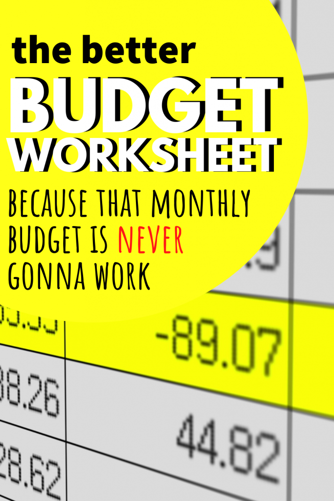 You need a budget worksheet that works with your paycheck. That monthly budget is never gonna work, so try this easy method for budgeting for beginners.