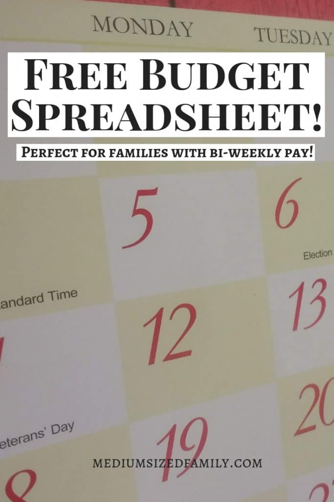 This free budget spreadsheet is an easy way to help your family household in great shape!