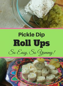 These pickle dip roll ups are delicious and make an easy lunch or appetizer!