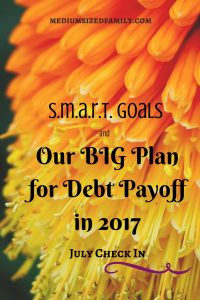 How to get your debt paid off by setting SMART goals and following through.