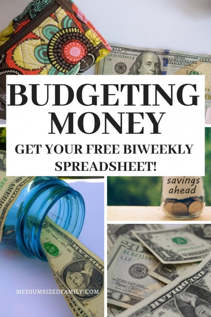 Get your tips for budgeting money that work for beginners. PLUS a totally free biweekly budget spreadsheet!