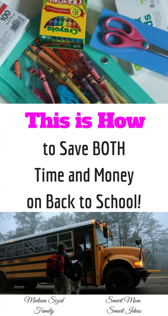 Shopping for back to school supplies takes up so much time and it costs a fortune! This is a good way to save you both time and money.