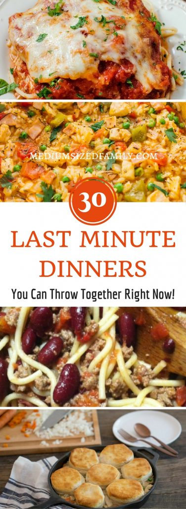 Need some last minute dinner ideas? Get yummy recipes that don't require a crock pot, no marinades, and simple ingredients you probably have on hand!
