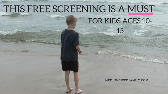 Don't Miss This Free and Simple Screening For Every 10-15 Year Old