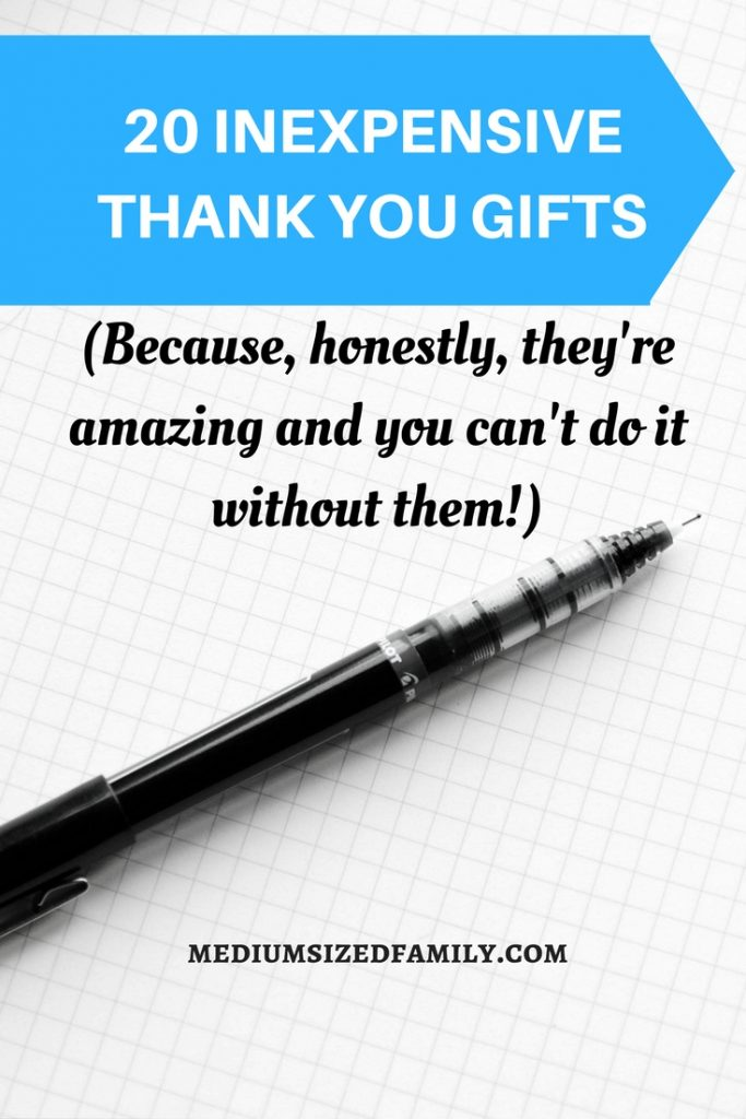 These inexpensive thank you gifts don't take a lot of money, but they'll still make that special person feel appreciated! Thank your volunteers!