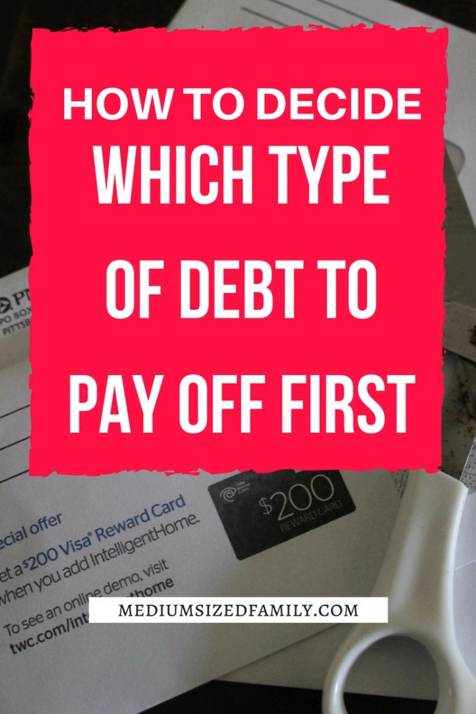 So you know you need to get that debt paid off, but which kind of debt should you get rid of first? This post helps you sort it all out.