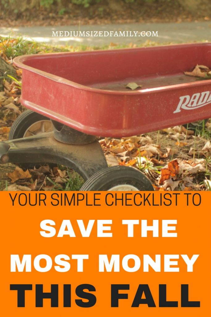 This simple checklist for fall is just what you need to save a ton of cash this year. Free fall printable!