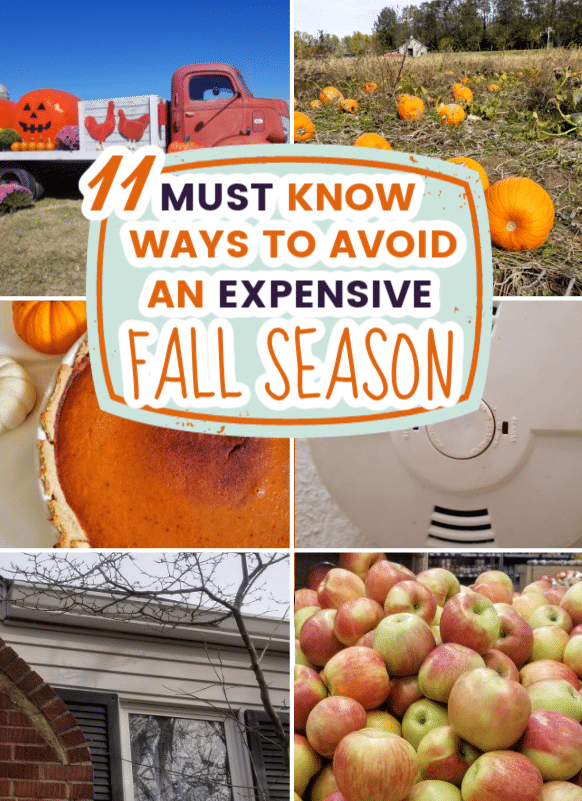 Fall checklist to do at home maintenance and more ways to save money this fall. Ways to save money in autumn. Things you must do in the fall to save more money. Money saving tips to do in September.