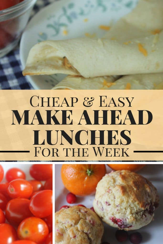 Make ahead lunches that are cheap and easy. These lunch ideas are perfect for work or for kids! They're delicious cold foods so no need to worry about heating these recipes.