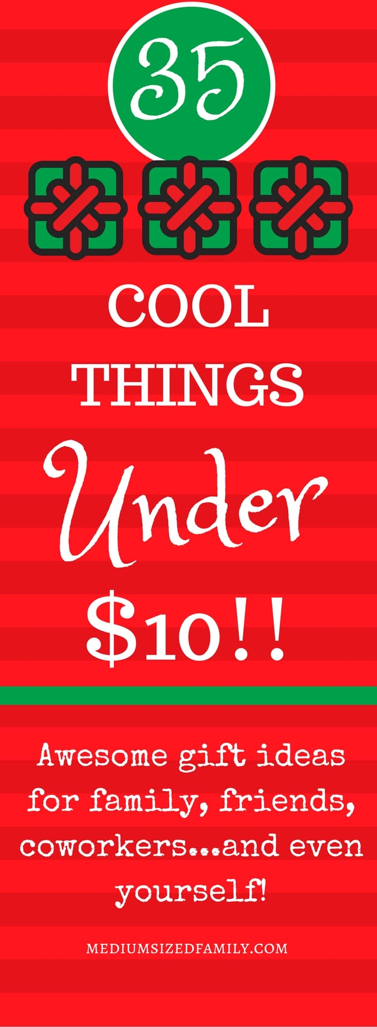You'll be wowed by this list of gift ideas under $10. There's really something here for everybody!