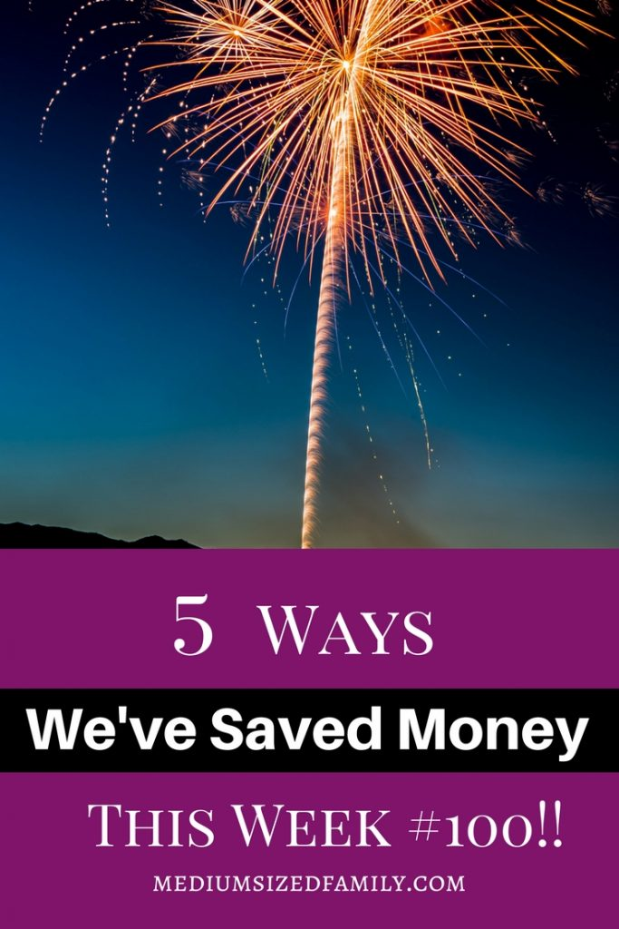 This money saving series has reached number 100! That's 500 different ways to save money on one blog.