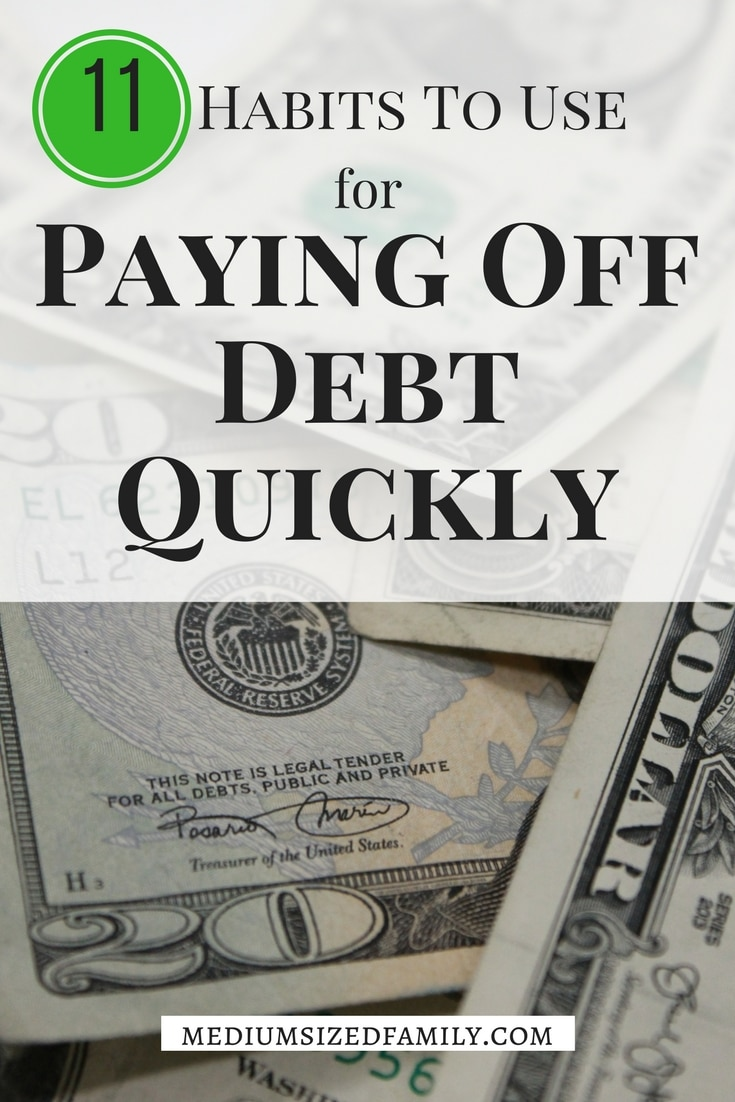 Paying off debt quickly requires some good habits. They aren't as tough as you think!