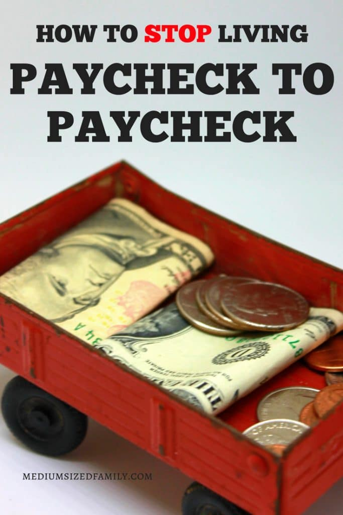 Paycheck to paycheck living is no fun. Stop living this way with a few budget tips!