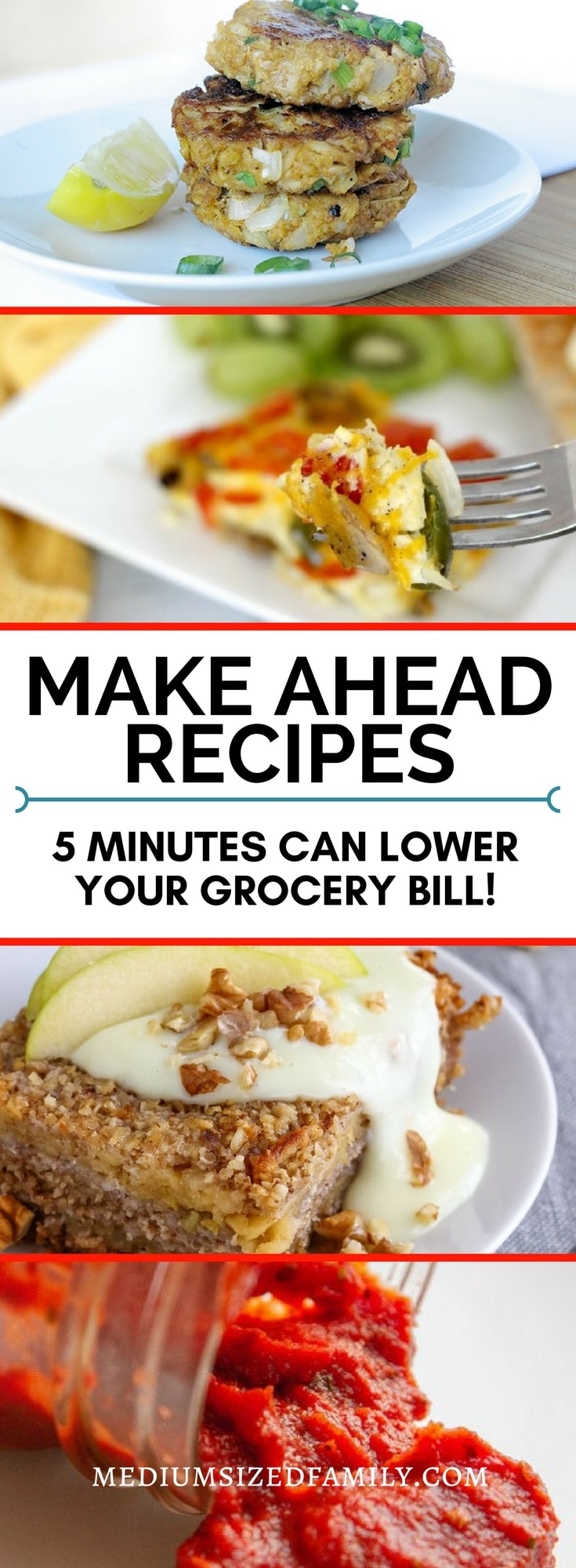 These easy make ahead recipes can help you save money on your grocery bill!