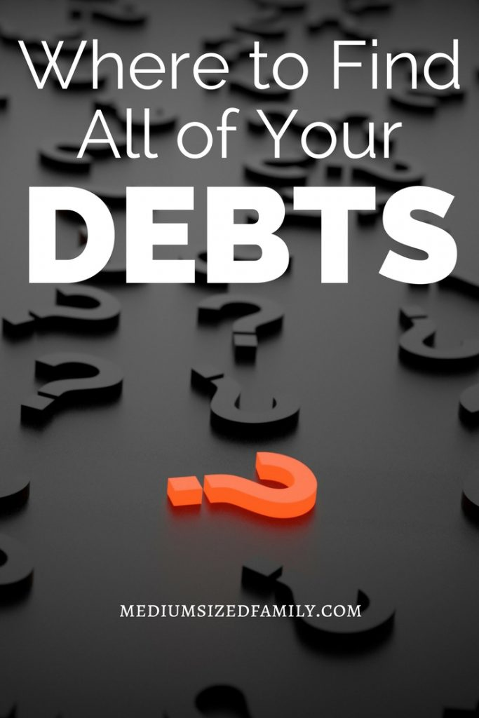 Finding all your debt is the first step in debt management. With this information, you can set goals to start your debt avalanche or snowball and take control of your money situation.