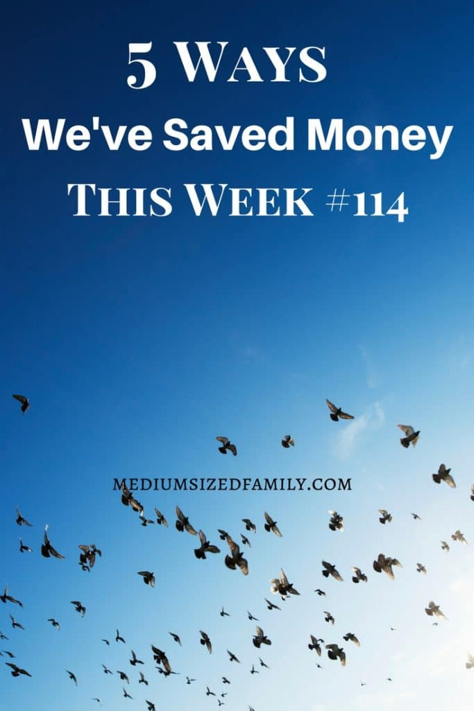 Ideas for saving money this week.