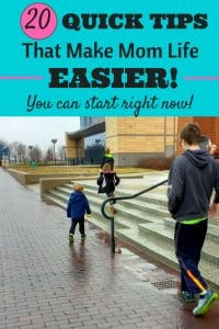 How to make your mom life easier with hacks and tips that are perfect for stay at home moms, working moms, and everyone in between. The truth is that quick tips really can make family life easier and better! #momlife