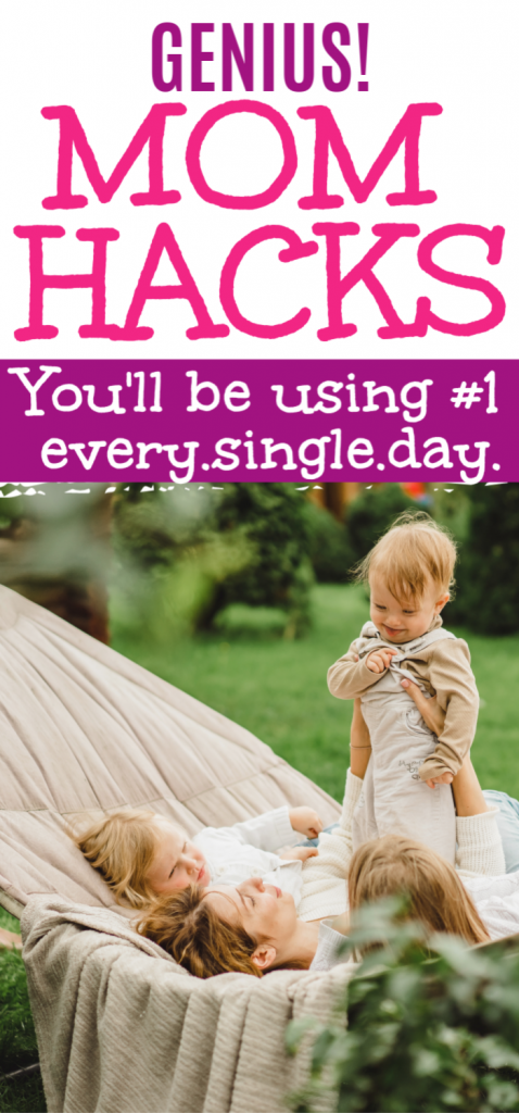 Simplify your stay at home mom life with the top best mom hacks out there. These hacks for busy moms are the best way to simplify your life and be a happy mom. #momlifehacks