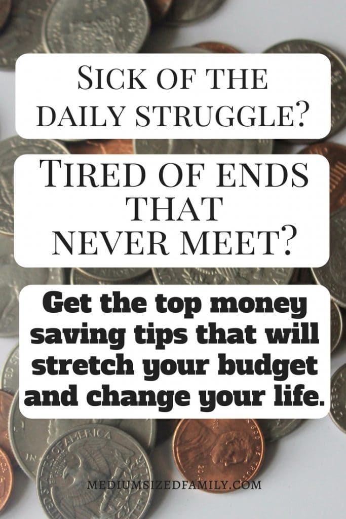 Money saving tips for moms, college students, families, couples, singles, teens, and adults that will help you get out of debt, learn to be frugal, help you buy a house, and reach any goal you want. These changes helped one family pay off over $20,000 in debt! You can do it, too! #money