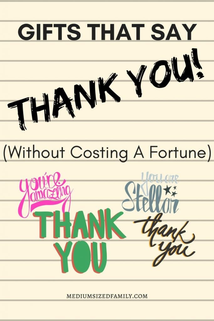 Click to read a whole list of thank you gifts are an inexpensive way to show your appreciation for volunteers, teachers, coworkers, staff, friends, hostess, and more! Gifts and notes of appreciation for being there when you need them are always great. #gratitude #thankyou #giftidea #volunteer