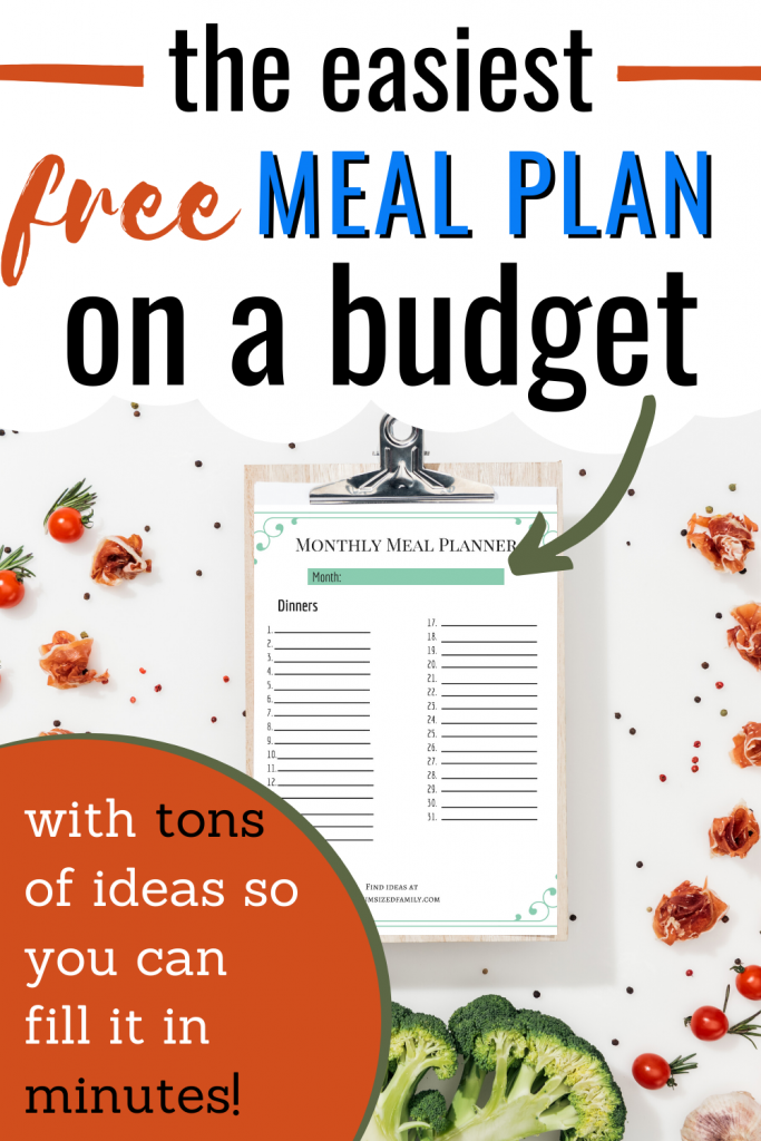 The free printable budget meal planner, meal planning ideas, menu planner, menu planning ideas, tips, tricks for monthly meal planning on a budget. Your family weekly menu for healthy eating with lots of ideas for frugal meal planning.