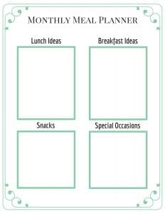 The Free Monthly Meal Planner That Will Make Life Easier Breakfast Lunch Etc