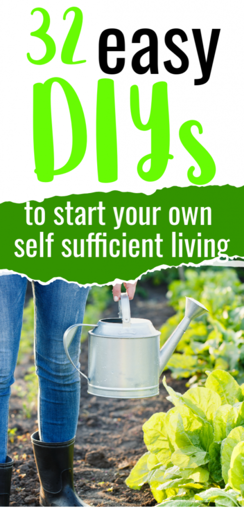If you're ready to try self sufficient living, these easy DIY tips and ideas will help you get off the grid a little bit. Frugal sustainability.