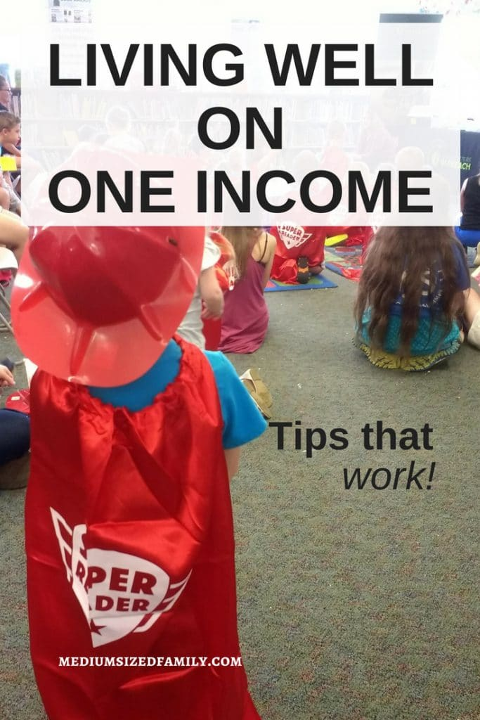 This is a must read list of tips for living on one income. Why just survive when you can thrive? #money