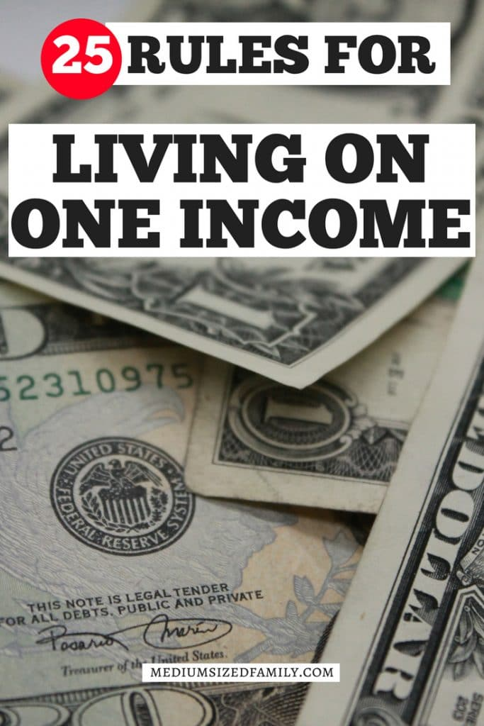 Living on one income is easier for families when you follow these 25 simple rules. Learn how saving money is just one part of the experience!