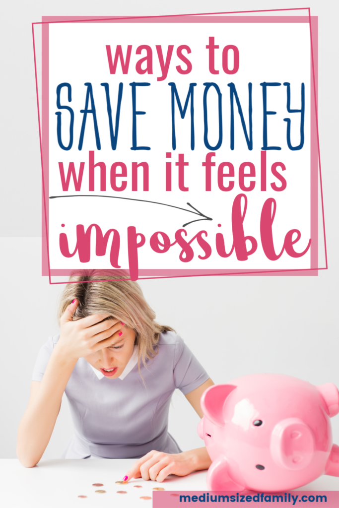 Ways to save money when it feels impossible to save. Simple tips to build a savings account. Good ways to save more money monthly.