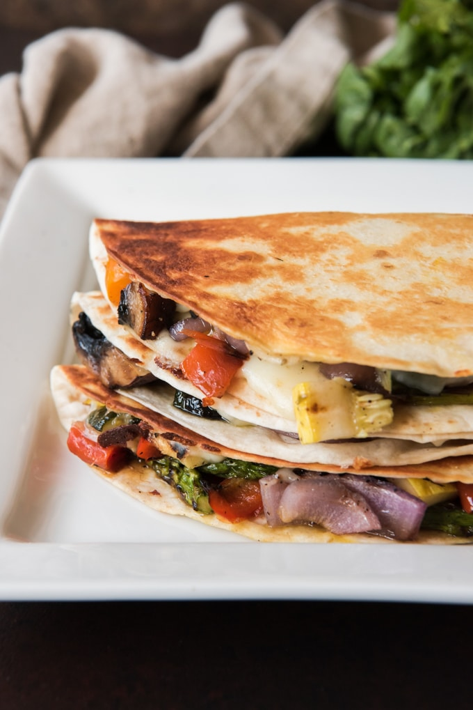 Grilled Summer Vegetable Quesadillas
