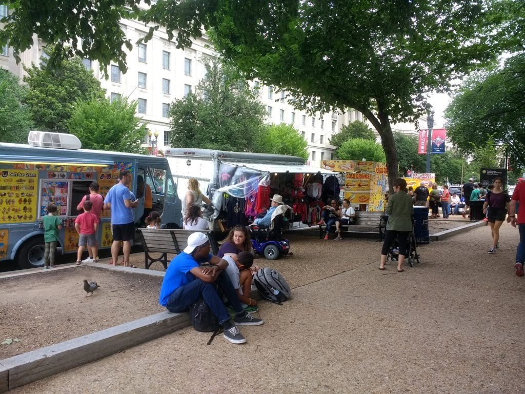 Eating at food trucks will be one of your more affordable choices in DC.