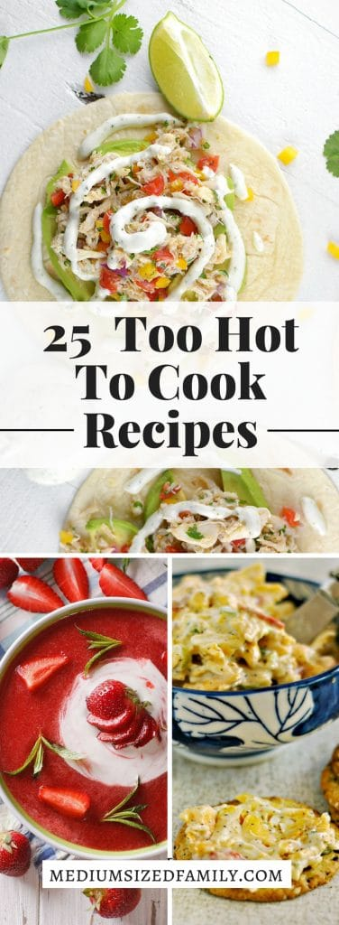 Too hot to cook meals that are perfect summer recipes!