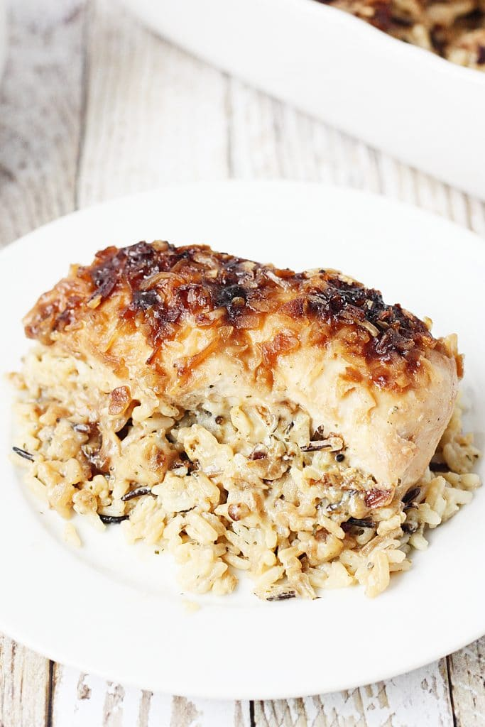 One Pan No Peek Chicken and Rice